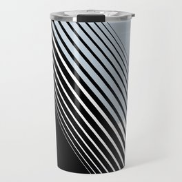 Rising Sun Minimal Japanese Abstract White Black Blue Travel Mug