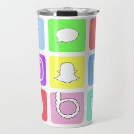 Social Media Icons Travel Mug