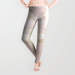 Frozen Geometry - Pink & Green Leggings