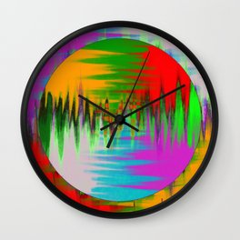 Colour Interference - Abstract colour painting Wall Clock