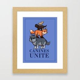Canines Unite Framed Art Print