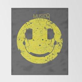 Music Smile V2 Throw Blanket