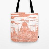 venus Tote Bags featuring Venus by David Fleck