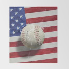 Baseball - New York, New York Throw Blanket