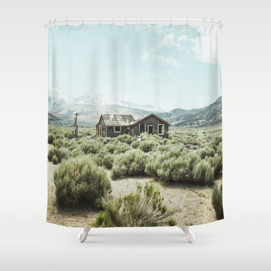 Old House In Desert Shower Curtain