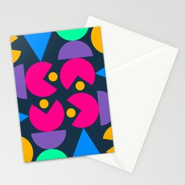 Bahaus Meets Pacman  Stationery Cards