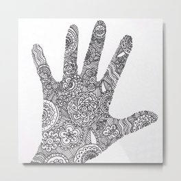 Hand Doodle Metal Print