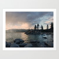 Storms at Sand Harbor Art Print