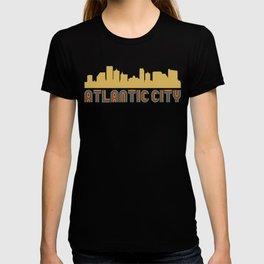Vintage Style Atlantic City New Jersey Skyline T-shirt