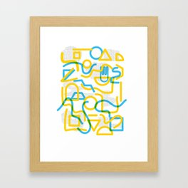 Shapes and Stuff Framed Art Print