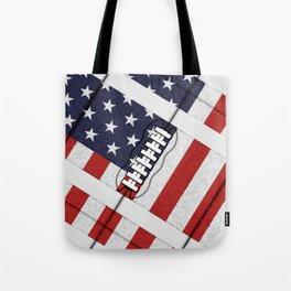 4th of July American Football Fanatic Tote Bag