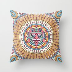aztec sun Throw Pillow