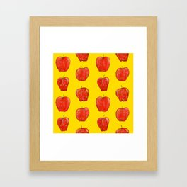 Red Remarkable Apple Pattern Framed Art Print