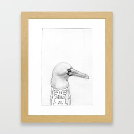 I've always considered myself a booby man. Framed Art Print