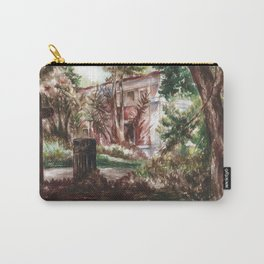 Abandoned House, Urban Jungle, Watercolor Painting -Shades Of Green Carry-All Pouch