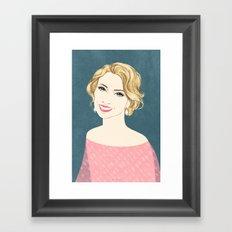 Lady light Framed Art Print