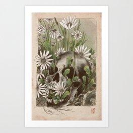 Pushing up Daisies Art Print