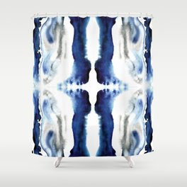 Indigo Geode Shower Curtain