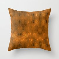 gold foil Throw Pillows featuring Gold Foil 10 by Robin Curtiss