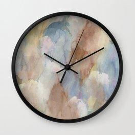 Earth Color Watercolor Abstract Wall Clock