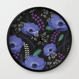Anemones I: cold in circle Wall Clock
