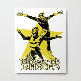 Yellow Brick Rhodes Metal Print