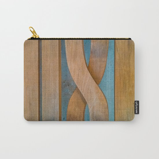 Cross the Wood Carry-All Pouch
