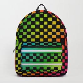 Rainbow Check Backpack