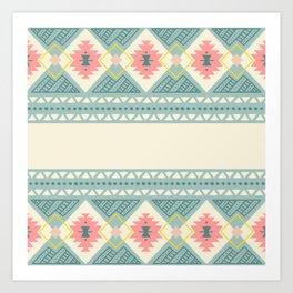 Colorful Geometric Boho Style 2 Art Print