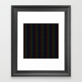 Rows of Rainbow Flowers Framed Art Print