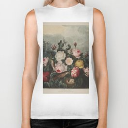Thornton, Robert John (1768-1837) - The Temple of Flora 1807 - Roses Biker Tank