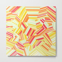 Pacific Beach - Voronoi Stripes Metal Print