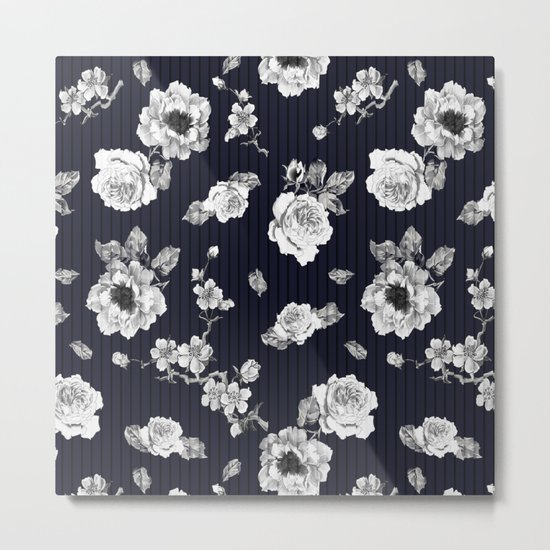 Flowers With Effect Metal Print