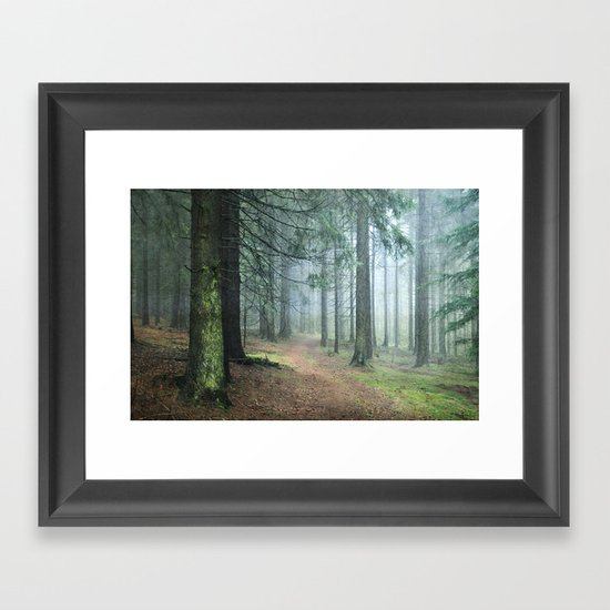 deep in thoughts Framed Art Print