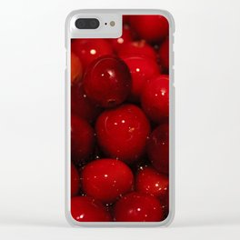 Cranberries Photography Print Clear iPhone Case
