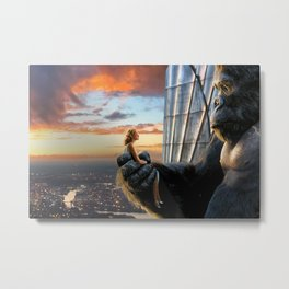 King Kong y Ann Darrow Metal Print