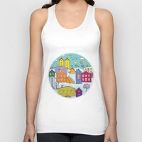 cityscape Tank Tops featuring Cityscape Sketch by EkaterinaP