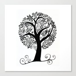 Sitting on a branch Canvas Print