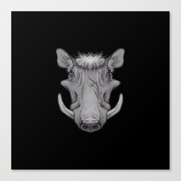 Icons of Africa - Warthog Canvas Print