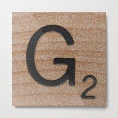 Tile G Metal Print