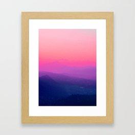 Como Sunset Framed Art Print