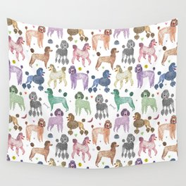 Poodles by Veronique de Jong Wall Tapestry
