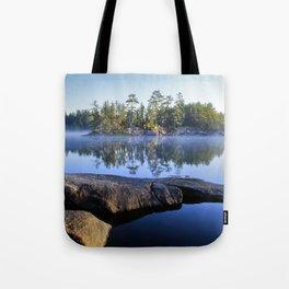 mist island Tote Bag