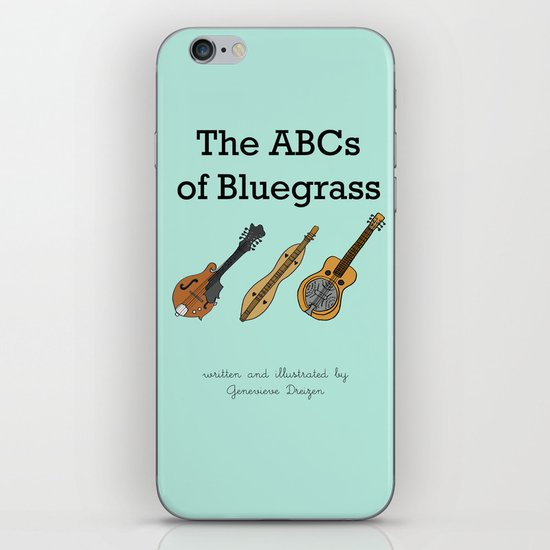 The ABCs of Bluegrass iPhone & iPod Skin