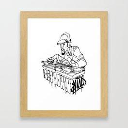 Scribbling Framed Art Print
