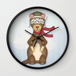 Frank the Flying Ferret Wall Clock