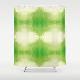 Kaleidoscopic design in green soft colors Shower Curtain