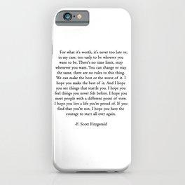 F.scott quotes iPhone Case