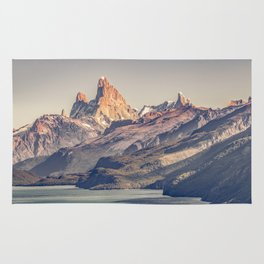 Fitz Roy and Poincenot Andes Mountains - Patagonia - Argentina Rug