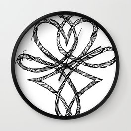 Hjerteflet Wall Clock